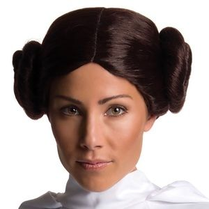 NWT Authentic Disney Princess Leia wig AdJUSTABLE